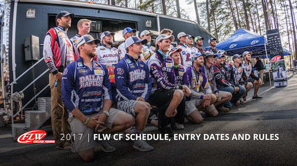 Flw announces 2017 flw college fishing schedule rules for Flw college fishing