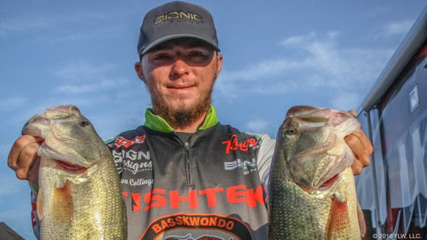 Oklahoma 39 s collings wins flw bass fishing league regional for Lake dardanelle fishing report