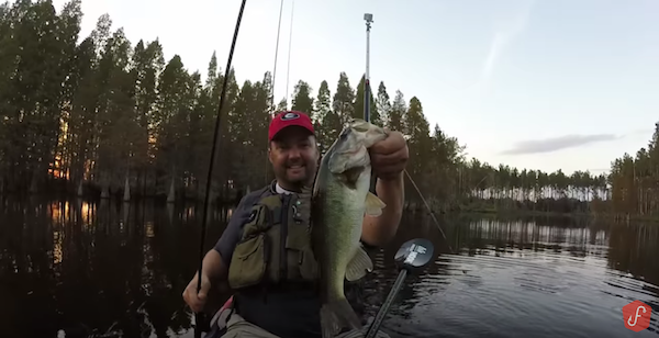 Great Fall Bass Fishing In Florida With Buzzbaits And Worms With
