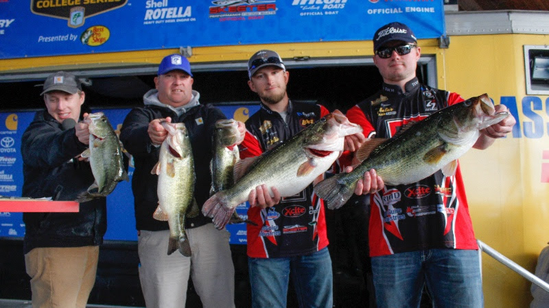 Texas tech bass fishing team grabs lead in bassmaster for College bass fishing