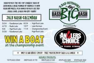 Big Bass Bash 2018 Schedule
