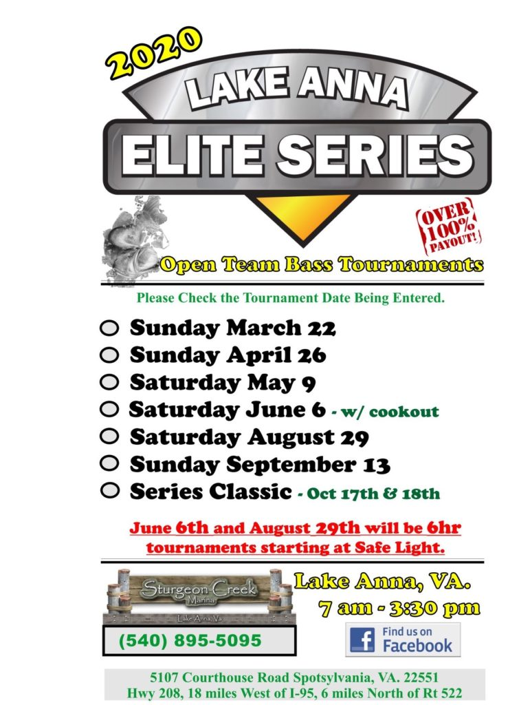 Lake Anna 2020 Elite Series Schedule